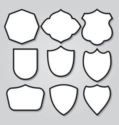 vintage shield armor frame icon logo mascot set 3 vector image