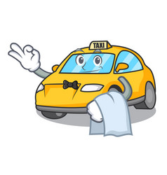 Waiter taxi character mascot style vector