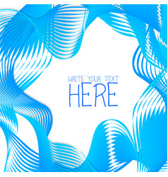 Abstract line template summer blue background vector