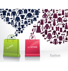 Conceptual background with fashion vector image