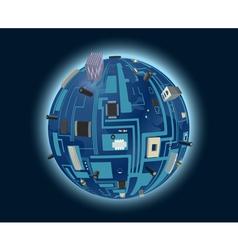 digital world vector image vector image