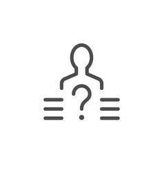 person selection line icon vector image