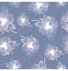 Vintage floral grey seamless background vector image