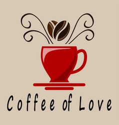 coffee of love vector image