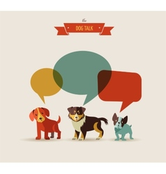 Dogs speaking - icons and vector image