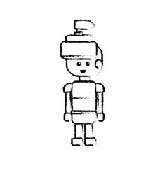 figure warrior character to video game technology vector image vector image