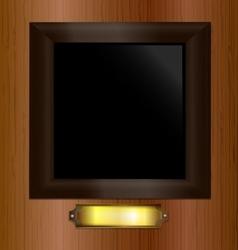 wooden empty frame vector image