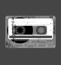 audio cassette tape grunge vector image vector image