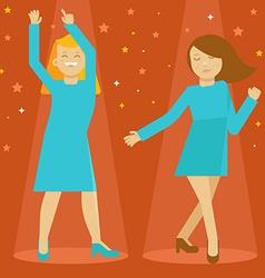 dancing girls vector image vector image