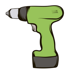 drill icon cartoon vector image