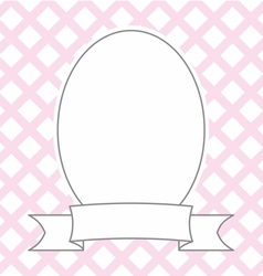 Hand drawn decorative photo frame on pastel pink vector image vector image