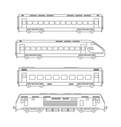 trains line drawing vector image vector image