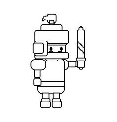 warrior pixelated videogame vector image vector image