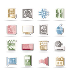 computer performance icons vector image vector image