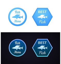 Grayling fish on label vector image