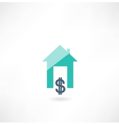 House with dollar icon vector