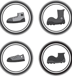 Set of boots vector image vector image