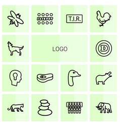 14 logo icons vector