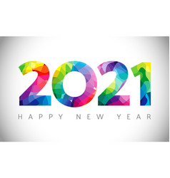 2021 colorful stained vector image