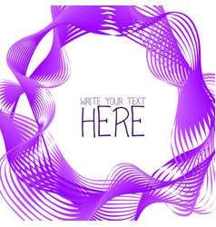 Abstract line template summer lilac background vector