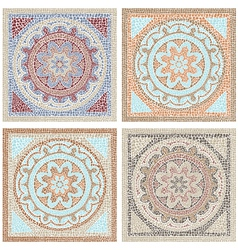 Antique mosaic vector image