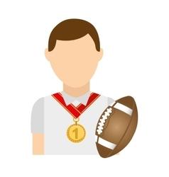 avatar winner meda first place sport vector image