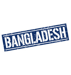 bangladesh blue square stamp vector image