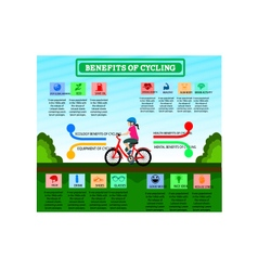 Benefit of Cycling Cartoon Infographic Design vector image