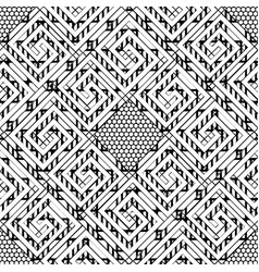 black and white geometric striped greek seamless vector image