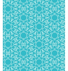 Blue lace seamless pattern vector