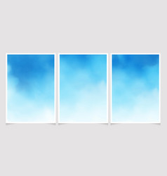 blue sky watercolor background gradient vector image