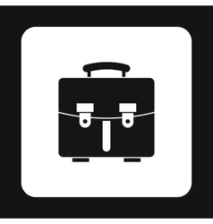 Briefcase icon in simple style vector image