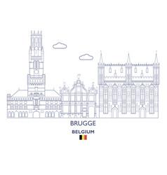brugge city skyline vector image