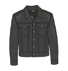 Cartoon classic denim jacket vector