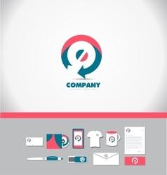 Circle arrow logo icon vector
