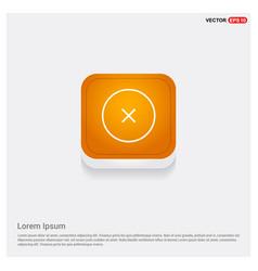 close cancel or delete icon vector image