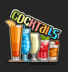 Cocktails in a row vector