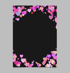 color random heart page background design - love vector image
