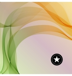 Colorful smooth twist light lines vector image vector image