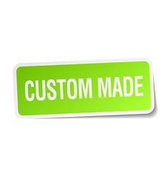 custom made green square sticker on white vector image