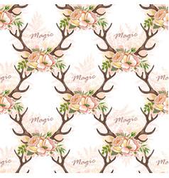 deer anller pattern vector image