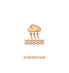 Evaporation concept 2 colored icon simple line vector