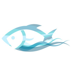 fish on a wave vector image vector image
