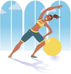 Fitness instructor vector image