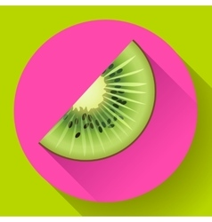Fruit kiwi icon flat style vector