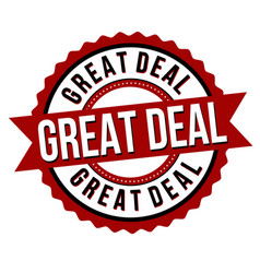 great deal label or sticker vector image
