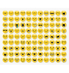 Great set 99 yellow emotions insulated with vector