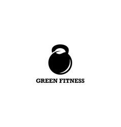 green fitness logo design concept vector image