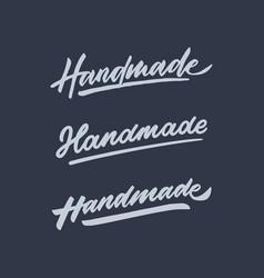 handmade roughen vintage hand lettering typography vector image