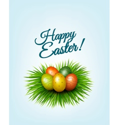 Happy Easter background Colorful easter eggs in vector image